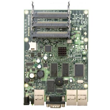 Mikrotik RB433AH - 3 miniPCI slots and 3 Ethernet ports