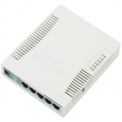 Mikrotik RB951G-2HnD - A wireless SOHO Gigabit AP with a new generation Atheros CPU and more processing power.