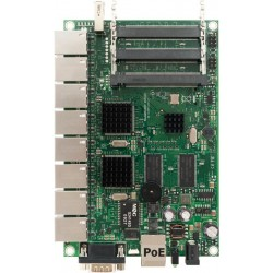 Mikrotik RB493G - Has nine Gigabit ethernet ports.